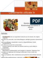 Condimente Utilizate in Aliment a Tie