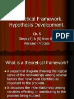 Ch. 5 Theoretical Framework & Hypothesis