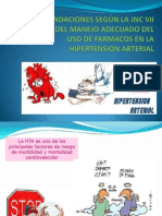 RECOMENDACIONES SEGÚN LA JNC VII  ACERCA DEL MANEJOexposicion