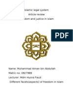 Freedom and Justice in Islam