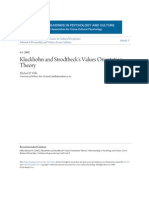 Kluckhohn and Strodtbeck's Values Orientation Theory