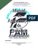 MANUAL DE APRESENTAÇÃO DE TRABALHOS ACADEMICOS- ABNT