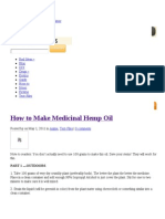 How to Make Medicinal Hemp Oil _ Totse