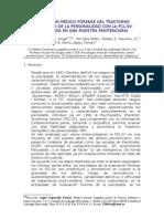 EVALUACION MEDICO-FORENSE DEL TRASTORNO PSICOPÁTICO DE LA PERSONALIDAD CON LA PCL-SV.