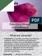 Describing Mineral Characterisitics