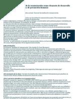 Importancia de la Comunicación para el desarrollo social, comunitario y de promoción humana_Clase 3