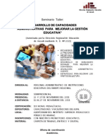 CURSO   ADMINISTRATIVOS  EDUCACIÓN