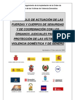PROTOCOLO DE ACTUACION POLICIA. VIOLENCIA DOMESTICA Y GENERO