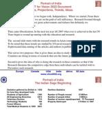 India Vision 22 Facts Basis