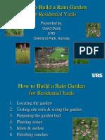 Overland Park KS Rain Garden Manual