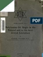 Babylonian Oil Magic