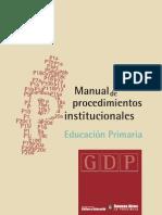 Manualde Procedimientos Educacion Primaria