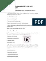 Final Written Examination BHD ORLA 312 December 14