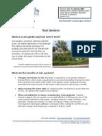 Delaware Rain Gardens Manual