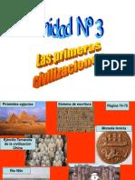 III Unidad Primeras Civilizaciones