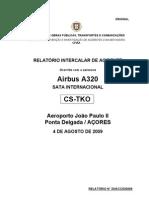 A320 Hard Landing CS-TKO