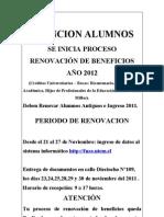 RENOVACION DE BENEFICIOS 2012
