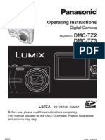 Digital Camera User Manual - Panasonic Lumix DMC-TZ3