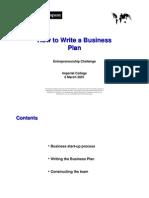 Presentation - Mckinsey - How to Write a Business Plan