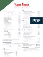 My Cake House Price List 2011