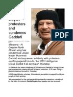 Al Qaeda Backs Libyan Protesters and Condemns Gaddafi