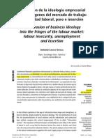 Empresarismo e Inseguridad Laboral