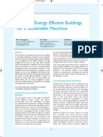 Towards Energy Efficient Buildings for a Sustainable Mauritius