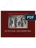 African Drumming Workshop FOBISSEA 2011