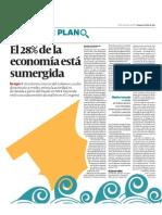 El 28% de la economía está sumergida