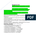Human Resource Management Syllabus