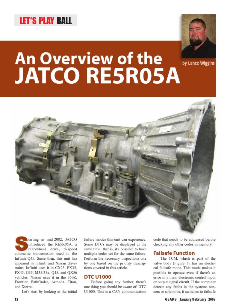 RE5R05A Overview 2007_1_12 | Transmission (Mechanics) | Throttle