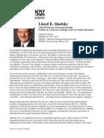 Shefsky Lloyd CV 0309