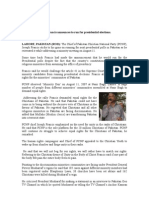 PCNP Chief Joseph Francis' Address