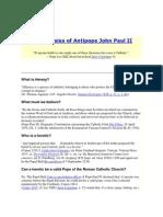 101 Heresies of Antipope John Paul II