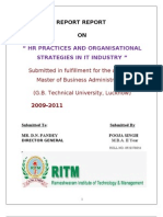 Hr Practices and Org Strategies in It Sector
