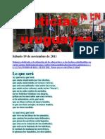 Noticias uruguayas Sábado 19 de noviembre de 2011