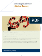The State of Corporate Philanthropy McKinsey Global Survey