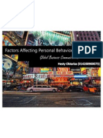 Factors & Values Affecting Personal Behavior