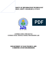 Dsp Lab Manual Juit
