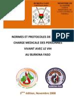 Burkina VIH Soins Trait Normes Et Pro Toc Oles Rev 2008 FINALE 18 Nov 2009 Midi 30+++++