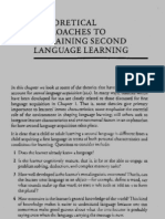 Theoretical Approaches to Explaining Second Language Learning (2)
