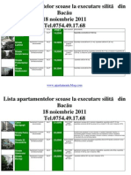 Lista Apartamentelor scoase la executare silită din Bacau la data  18 noiembrie  2011 (download pdf)