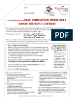 2011essay Contest Flyer