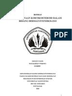 Referat Penggunaan Kortikosteroid Dalam Bidang DermatoVenerologi