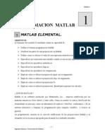 (1) Módulo, Programación con MATLAB