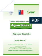 Informe Agroclimatico Coquimbo Mayo 2011