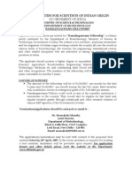 Ramalingaswamy Fellowships