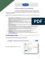 Guía para el acceso y navegación en el sitio del diplomado