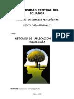 MÉTODOS DE APLICACIÓN DE LA PSICOLOGÍA