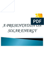 Presentation on Solar Energy
